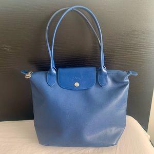 Longchamp blue genuine leather shoulder bag